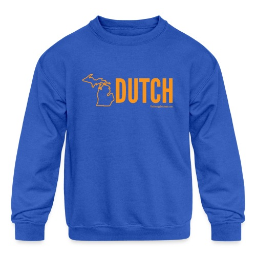 Michigan Dutch (orange) - Kids' Crewneck Sweatshirt