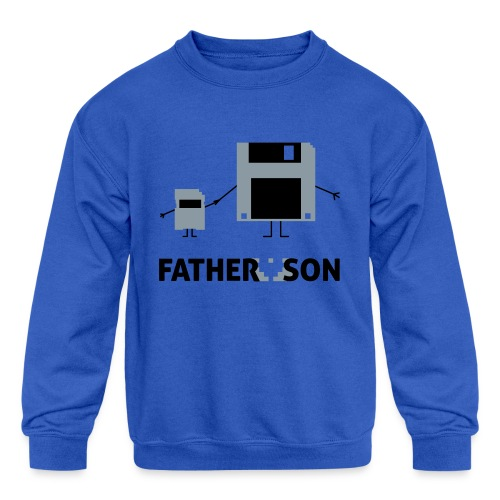 Father and Son - Kids' Crewneck Sweatshirt