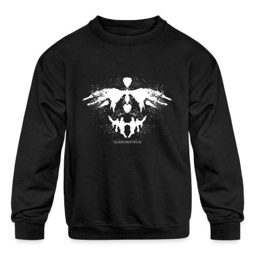 Rorschach_white - Kids' Crewneck Sweatshirt