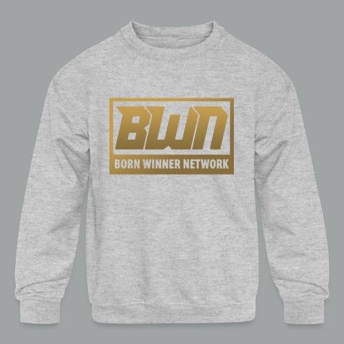 BWN (Gold) - Kids' Crewneck Sweatshirt