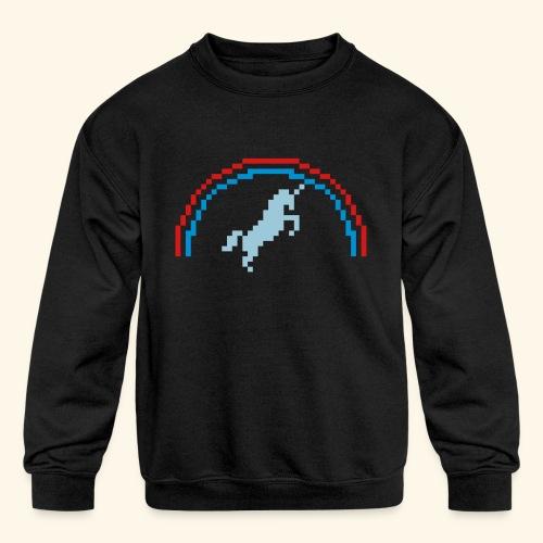 Pixelunicorn - Kids' Crewneck Sweatshirt