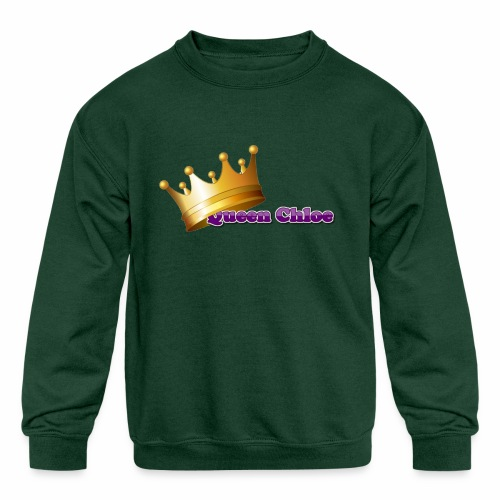 Queen Chloe - Kids' Crewneck Sweatshirt