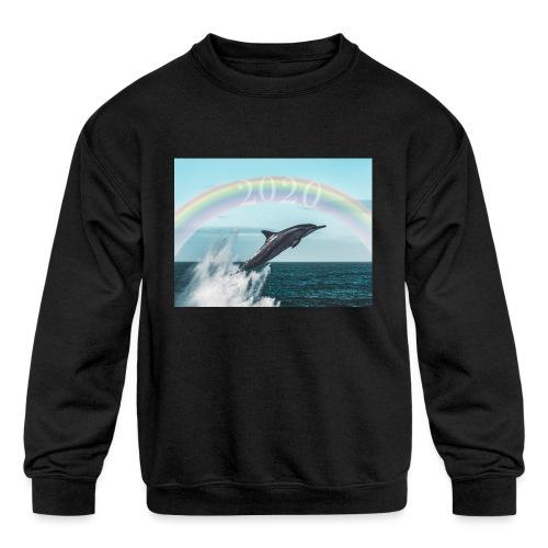 dolphin - Kids' Crewneck Sweatshirt