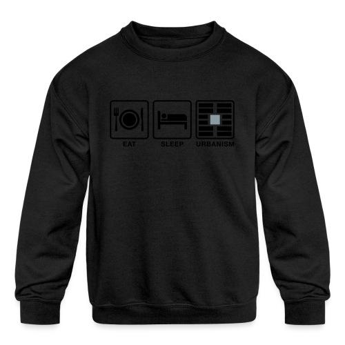 Eat Sleep Urb big fork-LG - Kids' Crewneck Sweatshirt