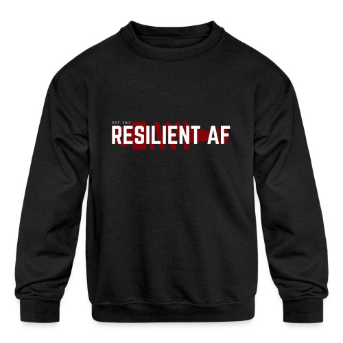 RESILIENT WHITE with red - Kids' Crewneck Sweatshirt