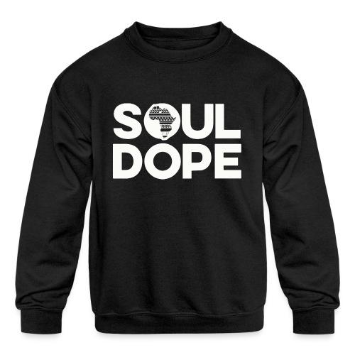 souldope white tee - Kids' Crewneck Sweatshirt