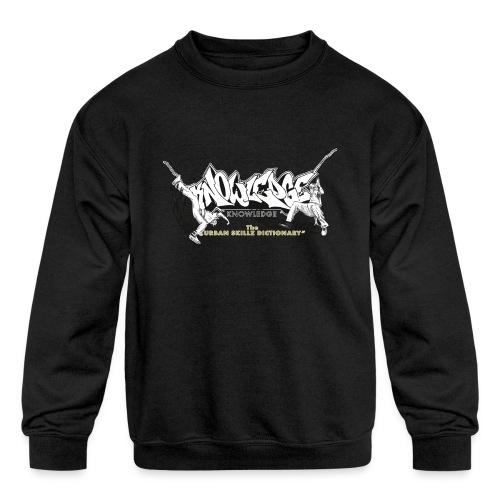 KNOWLEDGE - the urban skillz dictionary - promo sh - Kids' Crewneck Sweatshirt