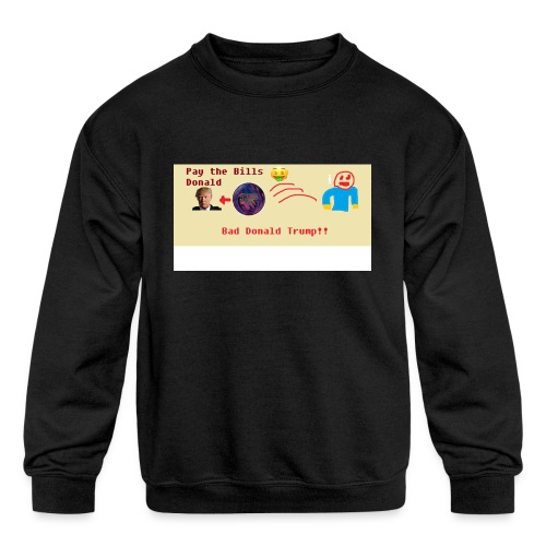 donald trump gets hit with a ball - Kids' Crewneck Sweatshirt