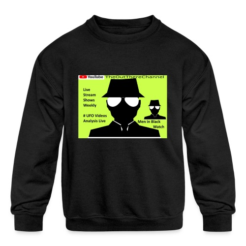Mib 2 Men with Back Crew Logo - Kids' Crewneck Sweatshirt