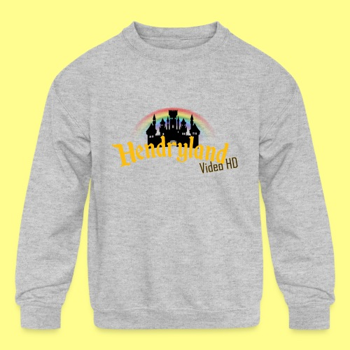HENDRYLAND logo Merch - Kids' Crewneck Sweatshirt