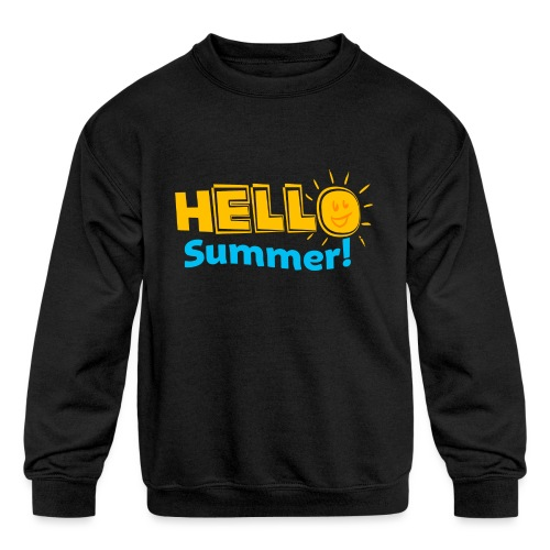 Kreative In Kinder Hello Summer! - Kids' Crewneck Sweatshirt