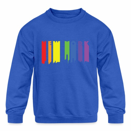 New York design Rainbow - Kids' Crewneck Sweatshirt