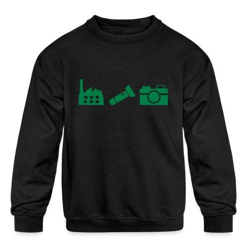 DCUE_Icons_Small - Kids' Crewneck Sweatshirt