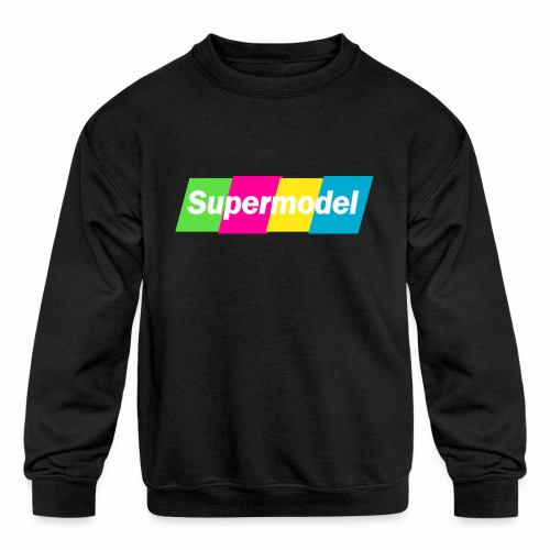 supermodel colors - Kids' Crewneck Sweatshirt