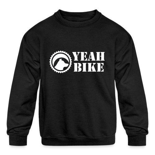 Yeah Bike white - Kids' Crewneck Sweatshirt
