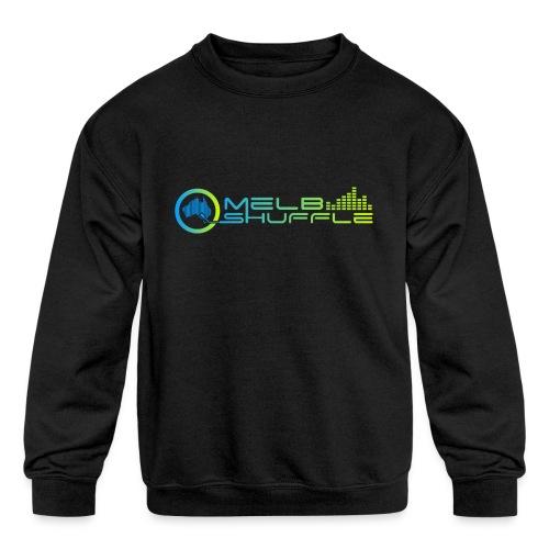 Melbshuffle Gradient Logo - Kids' Crewneck Sweatshirt