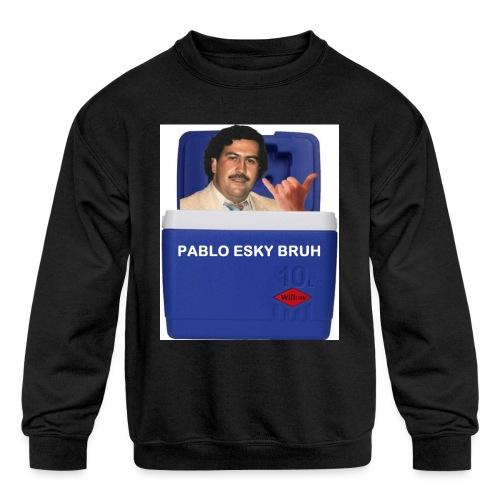 Pablo Esky Bruh - Kids' Crewneck Sweatshirt