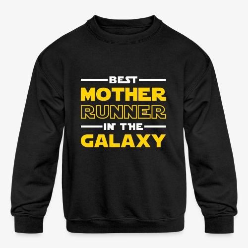 Best Mother Runner In The Galaxy - Kids' Crewneck Sweatshirt