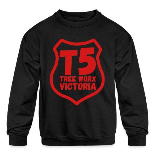 T5 tree worx shield - Kids' Crewneck Sweatshirt