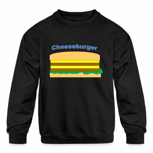 cheeseburger - Kids' Crewneck Sweatshirt