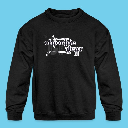 Chlorine Gear Textual stacked Periodic backdrop - Kids' Crewneck Sweatshirt