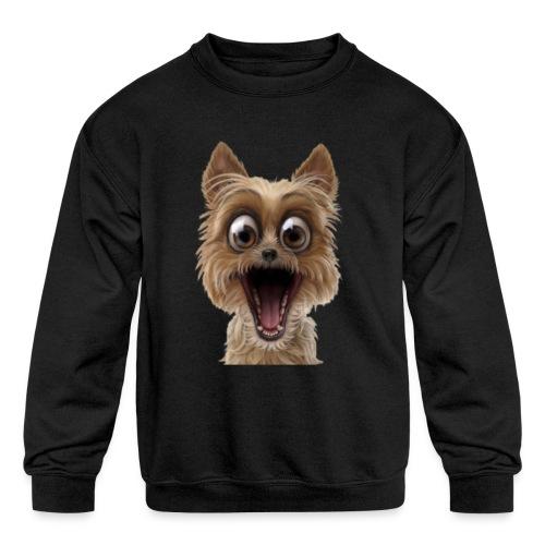 Dog puppy pet surprise pet - Kids' Crewneck Sweatshirt