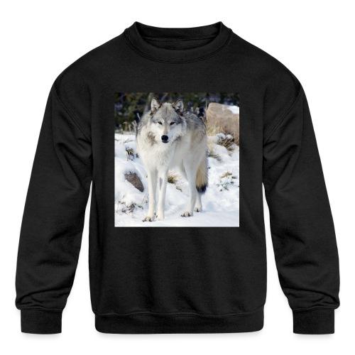 Canis lupus occidentalis - Kids' Crewneck Sweatshirt