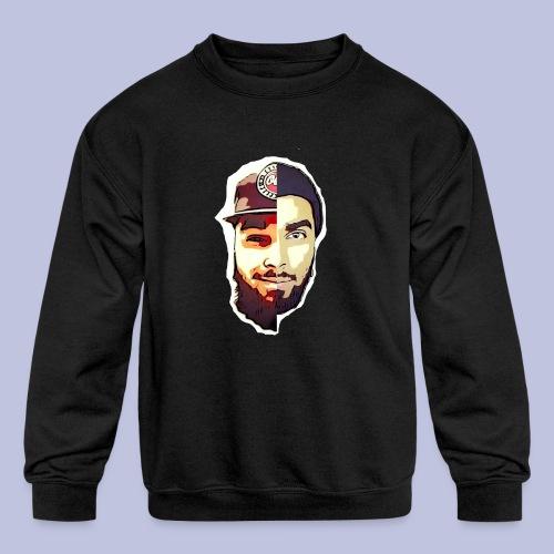 dlb face - Kids' Crewneck Sweatshirt