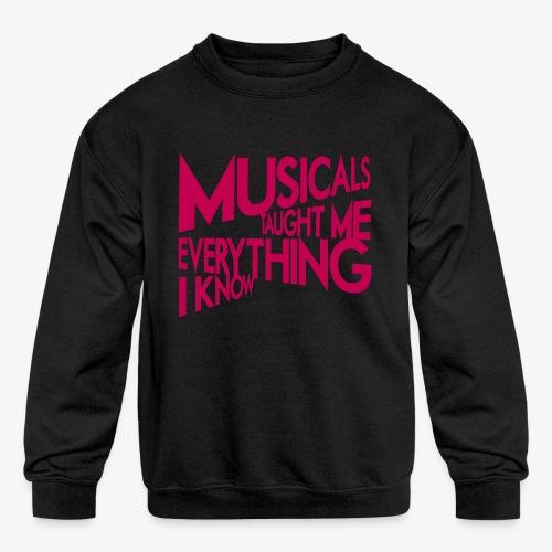 MTMEIK Pink Logo - Kids' Crewneck Sweatshirt