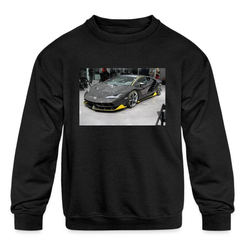 lambo shirt limeted - Kids' Crewneck Sweatshirt