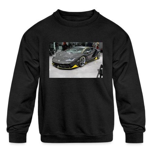 Lamborghini Centenario front three quarter e146585 - Kids' Crewneck Sweatshirt