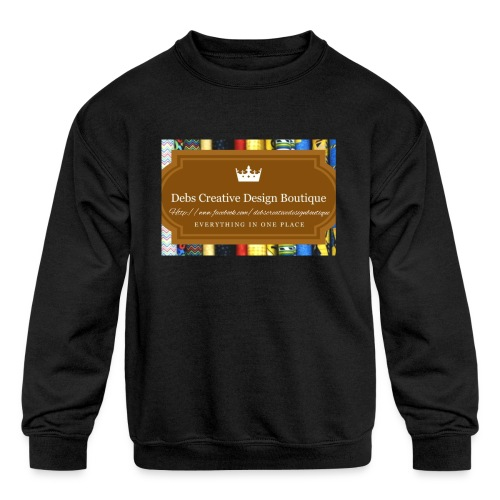 Debs Creative Design Boutique with site - Kids' Crewneck Sweatshirt