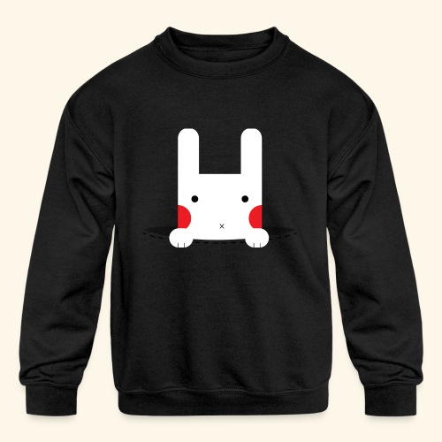 Pocket Bunny - Kids' Crewneck Sweatshirt