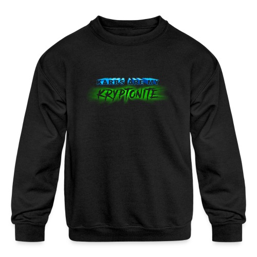 Karbs Are My Kryptonite - Kids' Crewneck Sweatshirt