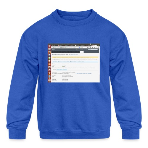 Screenshot from 2016 09 07 02 14 53 - Kids' Crewneck Sweatshirt