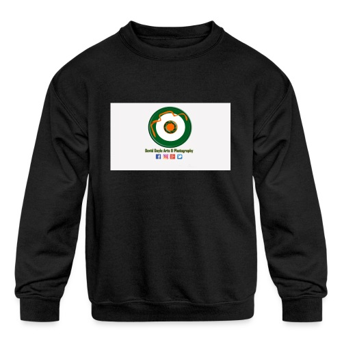 David Doyle Arts & Photography Logo - Kids' Crewneck Sweatshirt