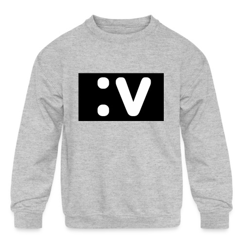 LBV side face Merch - Kids' Crewneck Sweatshirt