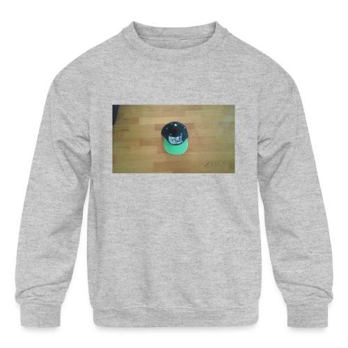 Hat boy - Kids' Crewneck Sweatshirt