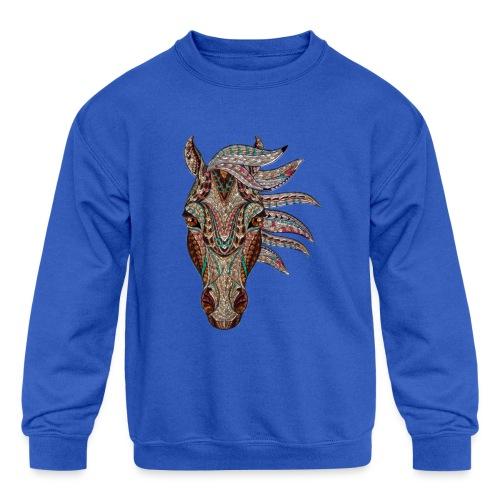 Horse head - Kids' Crewneck Sweatshirt