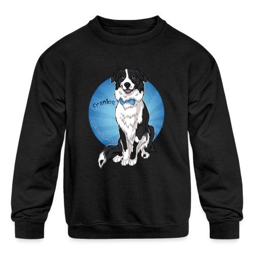 Border Collie Frankie Full Colour With Name - Kids' Crewneck Sweatshirt