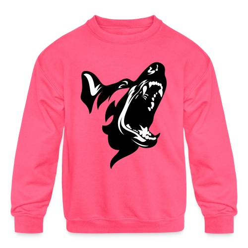 German Shepherd Dog Head - Kids' Crewneck Sweatshirt