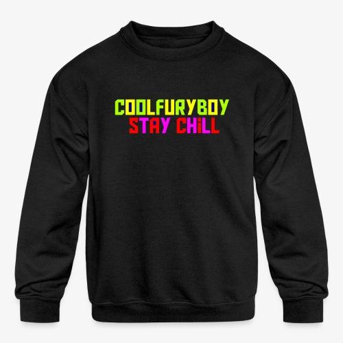 CoolFuryBoy - Kids' Crewneck Sweatshirt