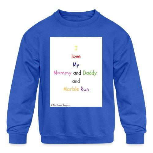 Hi I'm Ronald Seegers Collection-What I love - Kids' Crewneck Sweatshirt