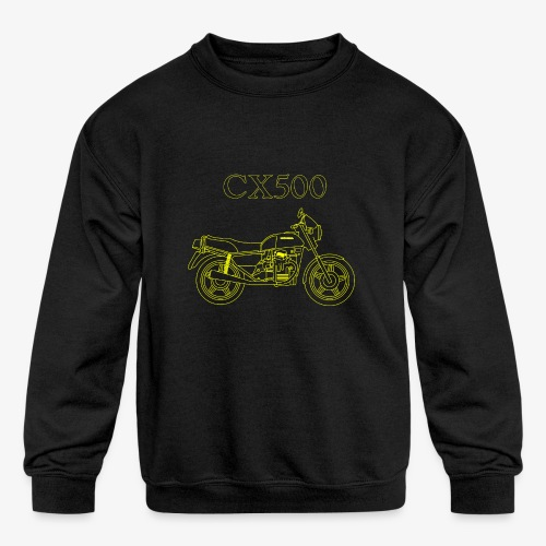 CX500 line drawing - Kids' Crewneck Sweatshirt