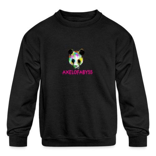 Axelofabyss panda panda paint - Kids' Crewneck Sweatshirt
