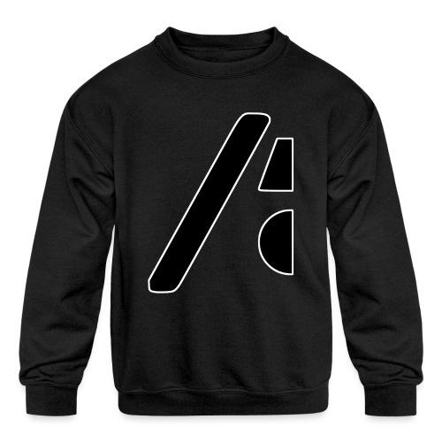 Half the logo, full on style - Kids' Crewneck Sweatshirt