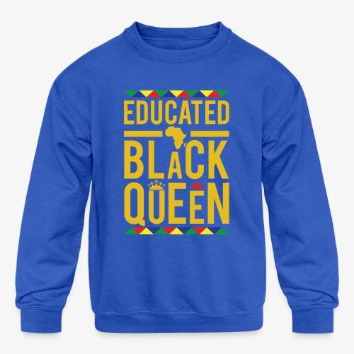 Educated Black Queen - Kids' Crewneck Sweatshirt