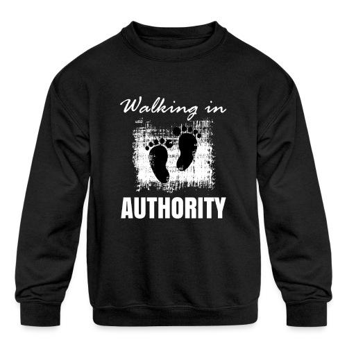 Walking in authority - Kids' Crewneck Sweatshirt