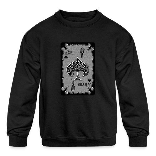 Axelofabyss Spade Card - Kids' Crewneck Sweatshirt