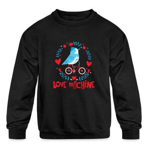 Cute Love Machine Bird - Kids' Crewneck Sweatshirt
